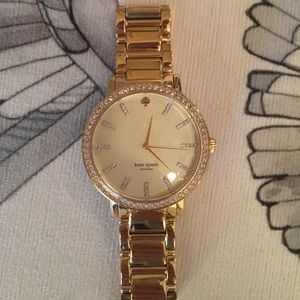 Kate spade gold and crystal watch